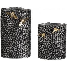 Hive Black Vase Set of 2