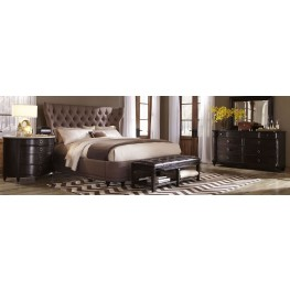 Classic Upholstered Shelter Bedroom Set
