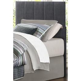 Potrero Gray Fabric Twin Size Headboard