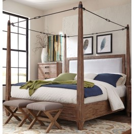 Madeleine Smoky Acacia Queen Canopy Bed by Donny Osmond