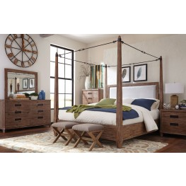 Madeleine Smoky Acacia Canopy Bedroom Set