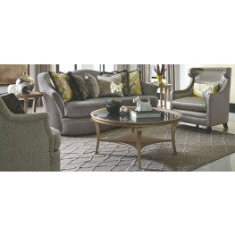 Amanda Sterling Living Room Set