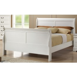 Louis Philippe White Full Size Bed