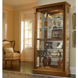 Estate Oak Two Way Sliding Door Curio