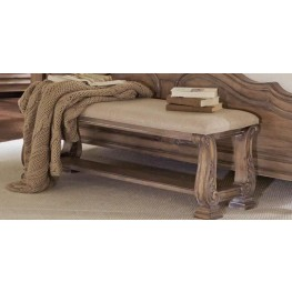 Ilana Antique Linen Bench