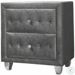 Deanna Grey Upholstered Nightstand