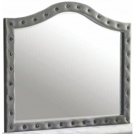 Deanna Grey Upholstered Mirror