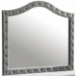 Deanna Grey Upholstered Mirror