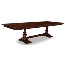 Whiskey Barrel Oak Trestle Extendable Dining Table