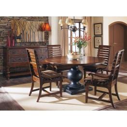 Whiskey Oak Round Dining Room Set