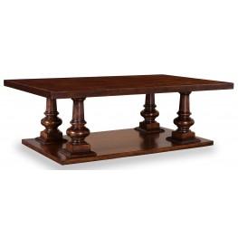 Whiskey Barrel Oak Rectangular Cocktail Table