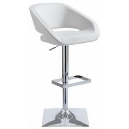 Gustavo White Adjustable Barstool
