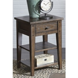 Lake House Brown Chair Side Table