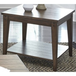 Lake House Brown Square Lamp Table