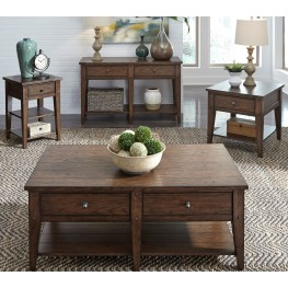 Lake House Brown Occasional Table Set