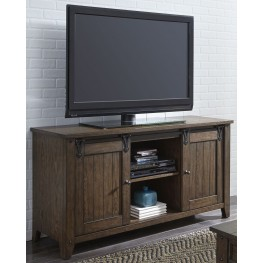 Lake House Brown TV Console