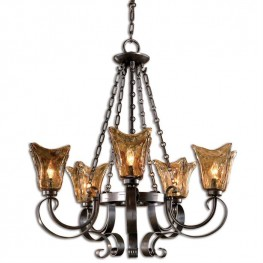 Vetraio 5Lt Oil Rubbed Bronze Chandelier