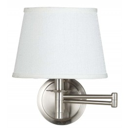 Sheppard Brushed Steel Wall Swing Arm Lamp