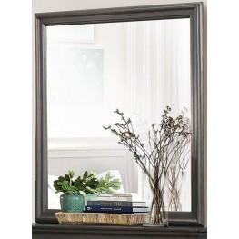 Mayville Stained Grey Mirror