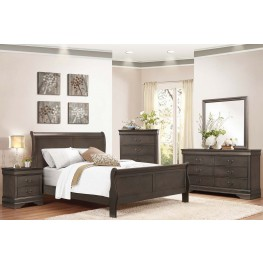 Mayville Stained Grey Panel Bedroom Set