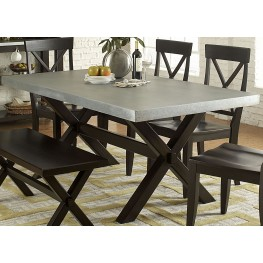 Keaton II Charcoal Trestle Dining Table