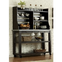 Keaton II Charcoal Server with Hutch