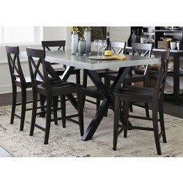 Keaton II Charcoal Gathering Dining Table