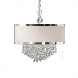 Fascination 3 Light Slken Drum Pendant