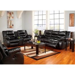 LineBacker DuraBlend Black Reclining Living Room Set