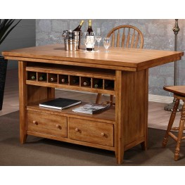 Four Seasons Rustic Oak Kitchen Island