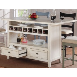 Four Seasons Antique White Kitchen Island