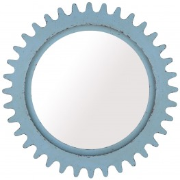 Epicenters Williamsburg Paint Blue Round Mirror
