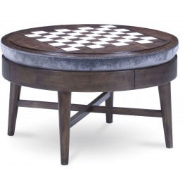 Epicenters Silver Lake Game Storage Cocktail Ottoman