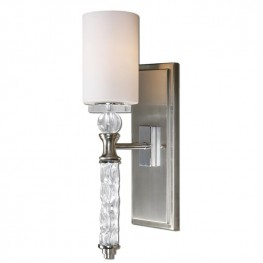 Campania 1 Light Carved Glass WallSconce