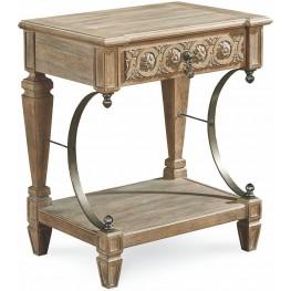 Arch Salvage Parchment Gabriel Bedside Table