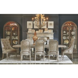 Arch Salvage Parchment Pearce Extendable Rectangular Dining Room Set