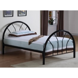 Rack em up Black Twin Metal Bed