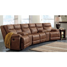 Valto Saddle Large Reclining Entertainment Sectional Seating