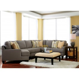 Chamberly Alloy LAF Cuddler Sectional