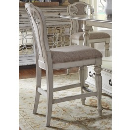 Magnolia Manor Antique White Counter Height Chair