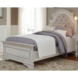 Magnolia Manor Antique White Full Upholstered Bed