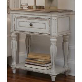 Magnolia Manor Antique White Leg Nightstand