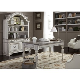 home office set. magnolia manor antique white home office set k