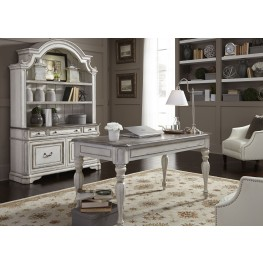 Bon Magnolia Manor Antique White Home Office Set