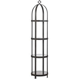 Welch Industrial Iron Black Etagere