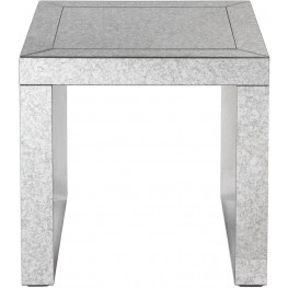 Nora Mirrored Gray Accent Table