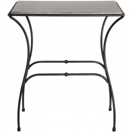Tamaya Gray Marble Top Accent Table