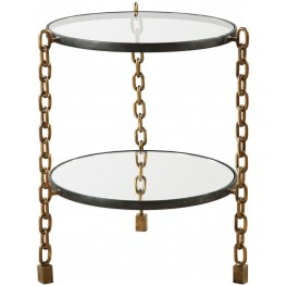 Alonna Gray Chain Accent Table