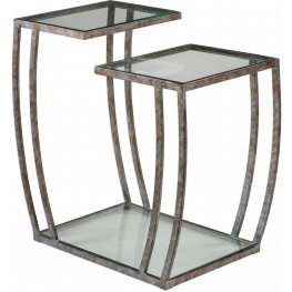 Teeranie Burnished Silver Accent Table