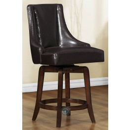 Annabelle Brown Counter Height Chair Set of 2